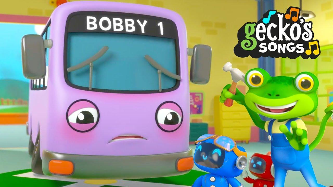 Bobby The Bus is Sick Song   Nursery Rhymes & Kids Songs   Gecko's Garage   Trucks For Children