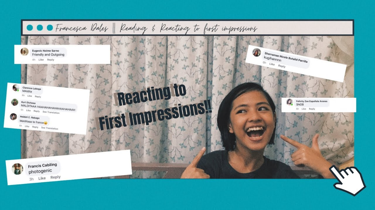 REACTING TO PEOPLE'S FIRST IMPRESSIONS!! || Francesca Dales