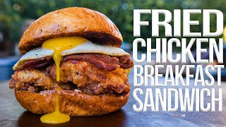 The Best Fried Chicken Breakfast Sandwich | SAM THE COOKING GUY 4K