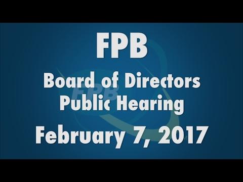 FPB Public Hearing 02.07.17