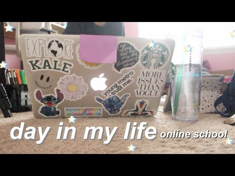 ONLINE SCHOOL DAY IN MY LIFE// JaiMaria Howard
