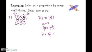 Lesson: Solving Proportions bỳ Cross-Multiplying