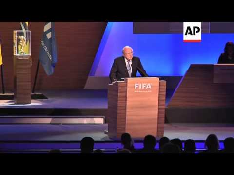 FIFA President Sepp Blatter seeks support to be re-elected to another 4-year term