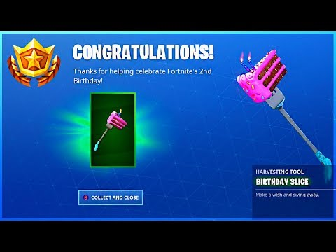 I Got BIRTHDAY SLICE PICKAXE And How To Do ALL BIRTHDAY CHALLENGES GUIDE In Fortnite!