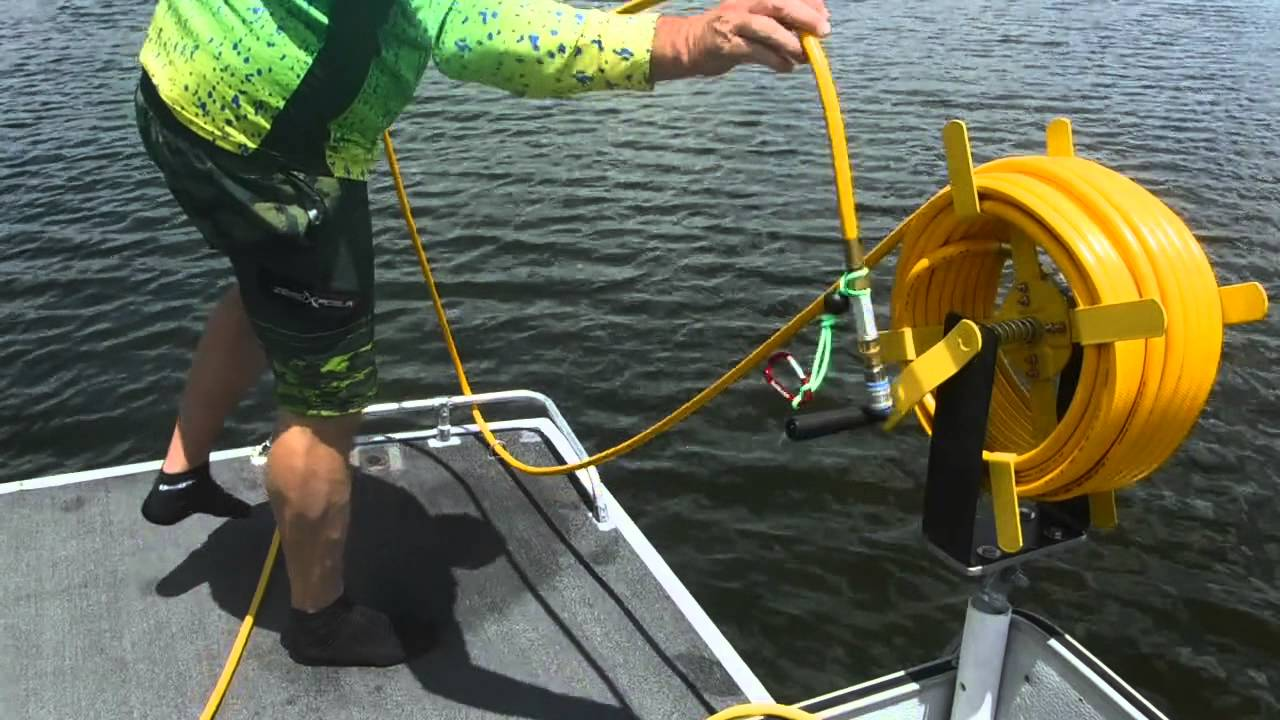 How to set up your 12 volt powered Gator Gill Hookah Diving System