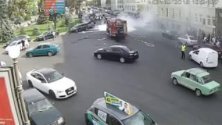 Пожар Автомобиля м.Пушкинская Харьков 07.09.18