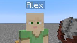 I Cut Alex's Hair In Minecraft.