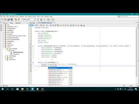 Membuat Aplikasi Toko Java