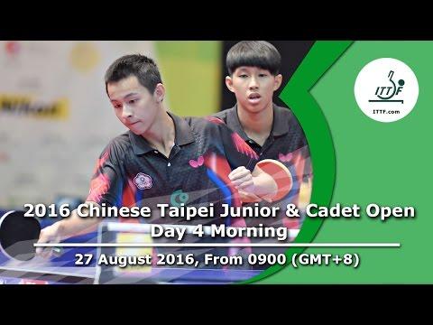 2016 ITTF Chinese Taipei Junior & Cadet Open - Day 4 Morning