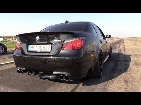 BMW M5 E60 V10 5.8L DINAN STROKER 'BLACK BEAST' - REVS & CRAZY V10 SOUNDS