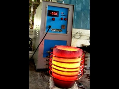 Electronic induction precious metal refining furnace