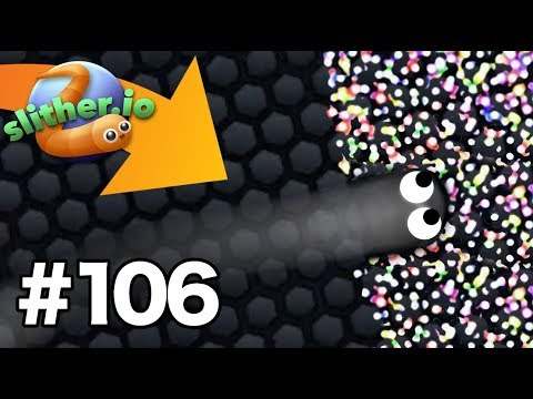Invisible NINJA Skin modhack INSANE KILLS!  Slitherio Gameplay Part 106