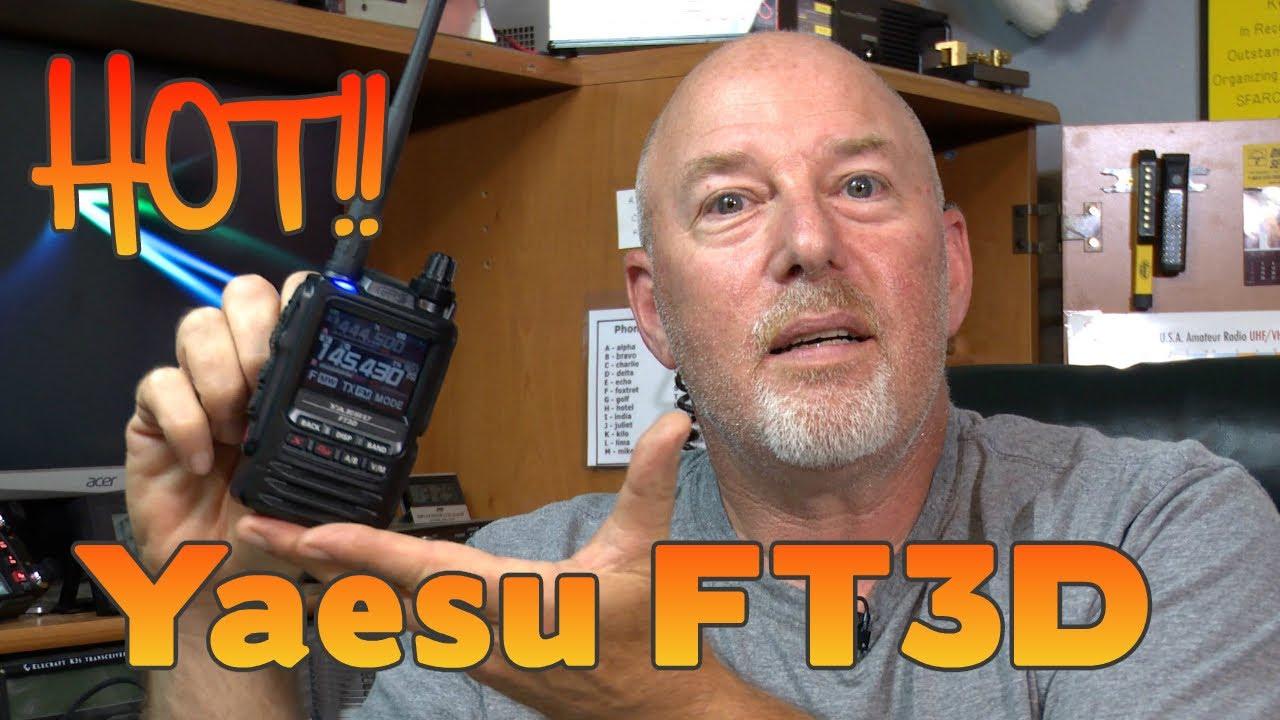 Yaesu FT3D First look at the new Handheld Ham Radio | K6UDA Radio