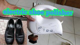 This is how I polish my shoes ☺️ |shoe polishing| electric shoe polisher| Desi jugad |aditube