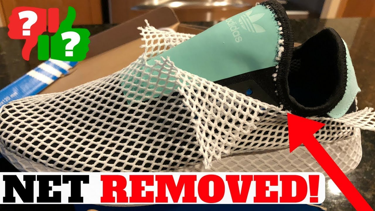 online retailer shop look out for MESH NET REMOVED: Adidas DEERUPT Runner