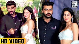 Arjun Kapoor & Janhvi Kapoor's Bond At Sonam Kapoor's Reception Party | LehrenTV
