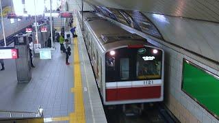 【大阪メトロ】10系電車〜淀屋橋駅にて梅田方面千里中央行き2番線に到着
