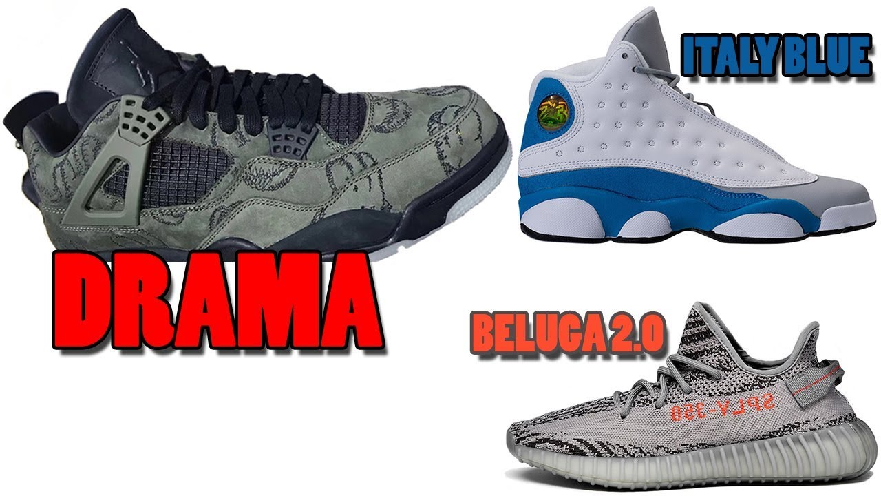the latest 49251 0392e KAWS AIR JORDAN 4 OLIVE DRAMA, JORDAN 13 ITALY BLUE, YEEZY BOOST 350 V2  BELUGA 2.0 AND MORE