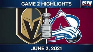 NHL Game Highlights   Golden Knights Vs. Avalanche, Game 2 - June 2, 2021