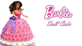 Easiest way to decorate Barbie Doll Cake