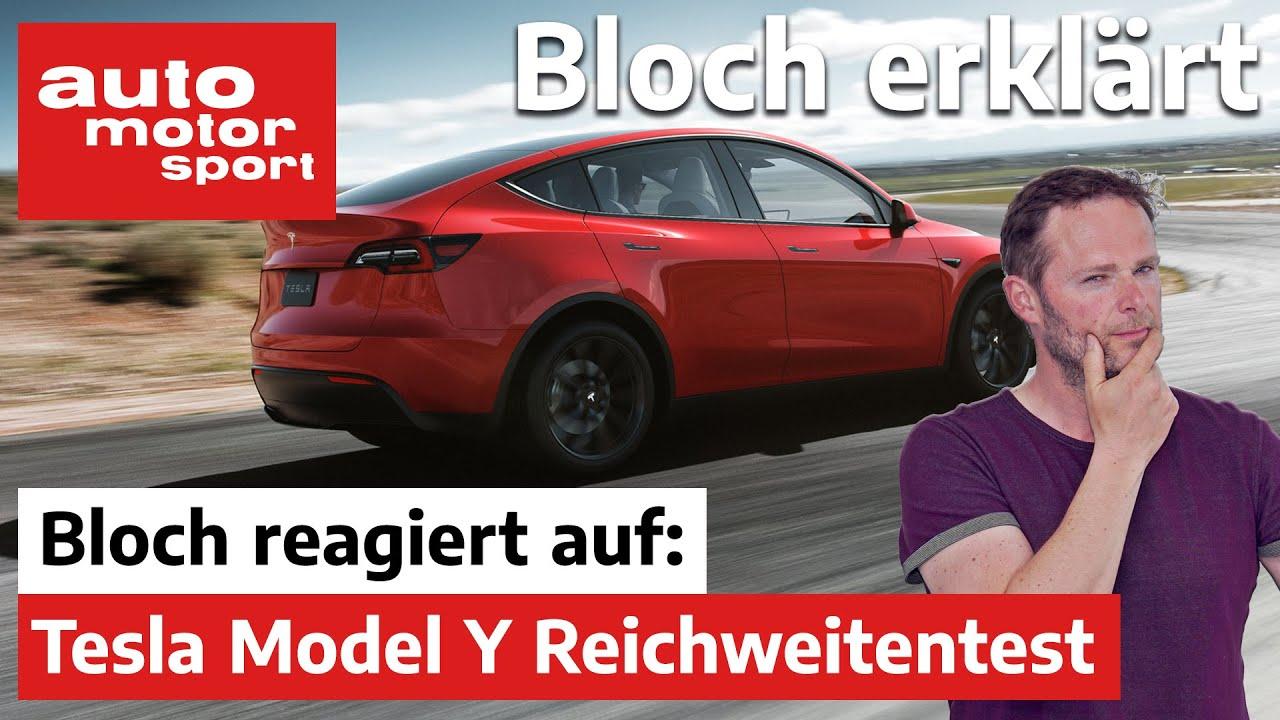 Bloch reagiert auf Tesla Model Y Reichweitentest