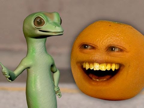 annoying orange annoying orange vs gecko geico spoof youtube