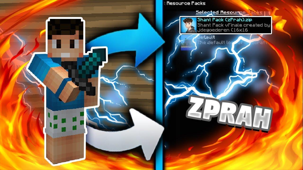EL TEXTURE PACK de ZPRAH!😜 | TEXTURE PACK que te hará MÁS PRO😱 - YouTube
