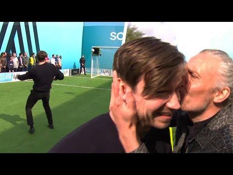 Jimmy Bullard kisses David Kross after he hits the top bin!   Soccer AM Pro AM