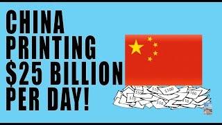 China MASSIVE QE Injecting $25 Billion Into the Market EVERY SINGLE DAY!