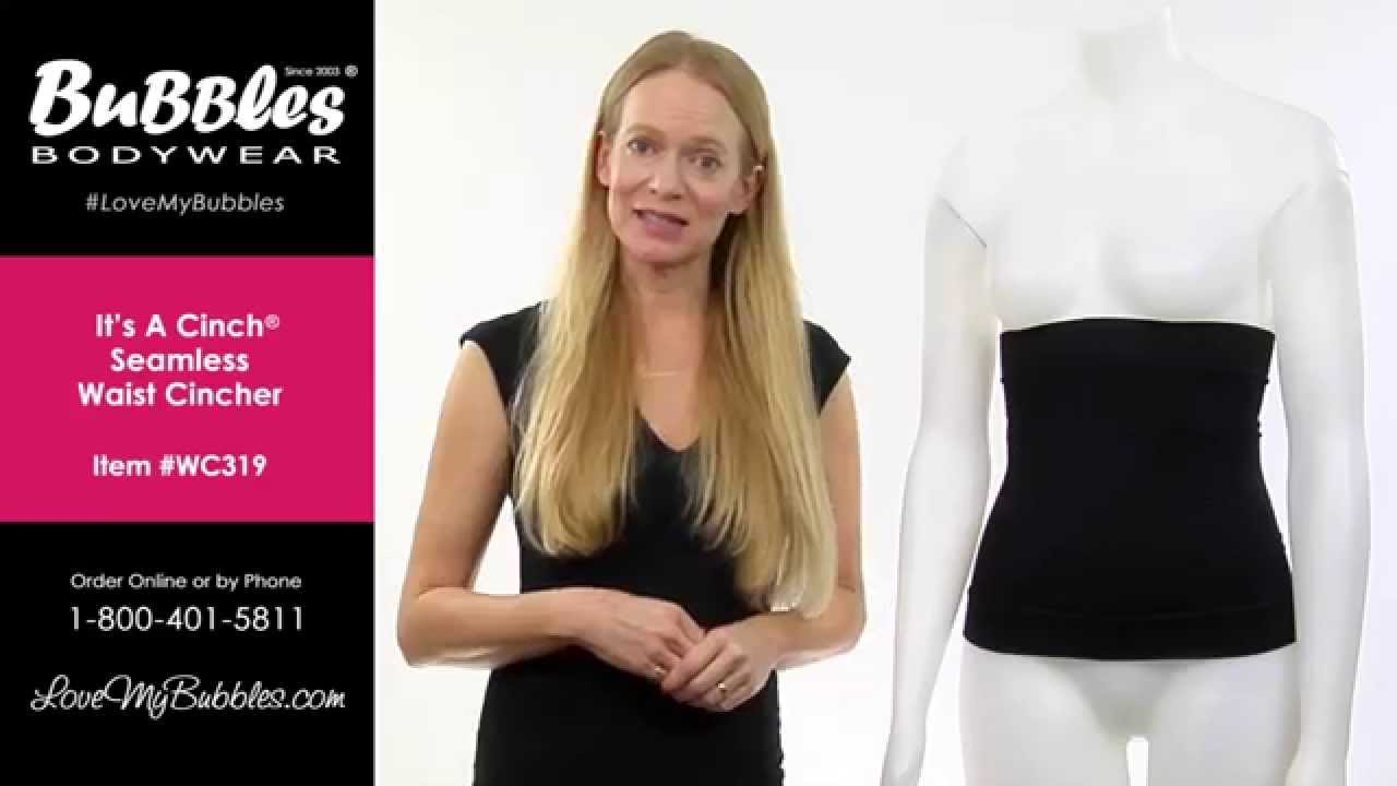 1b265c3ac9 Bubbles Bodywear s Seamless Waist Cincher - YouTube