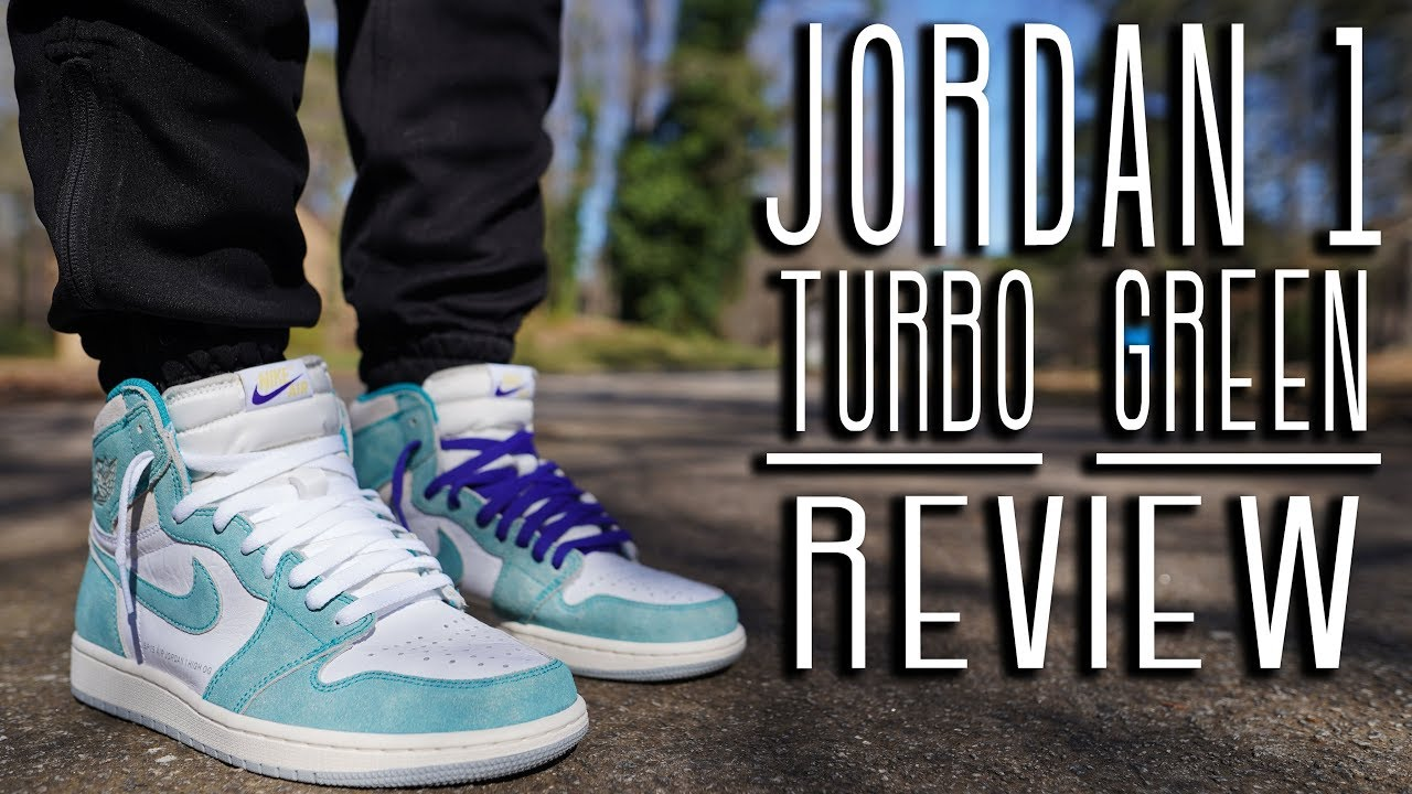 8f477093060 AIR JORDAN 1 TURBO GREEN REVIEW AND ON FOOT !!! - YouTube