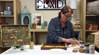Folkart Home Decor: Create A Chippy Layered Paint Finish With Donna Dewberry