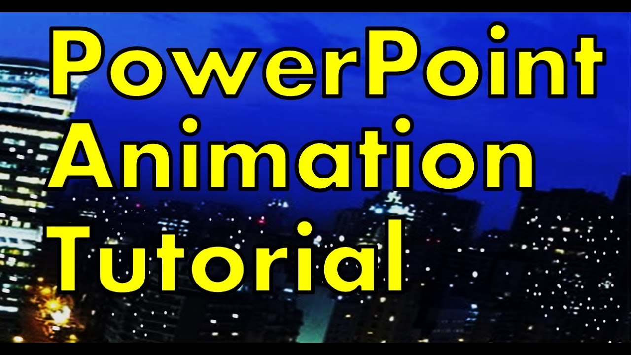 Powerpoint animation tutorial make a night city with lights youtube toneelgroepblik