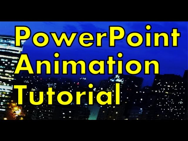 PowerPoint Animation Tutorial – How to Make a Night City