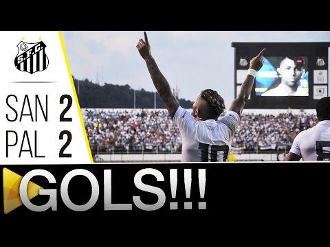 Santos 2 (3) x (2) 2 Palmeiras | GOLS | Paulistão (24/04/16)