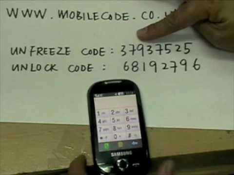 How to Unlock Samsung Genio , Samsung S3650