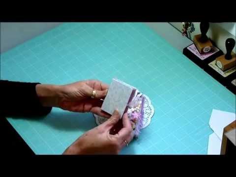 Tiny Shabby chic altered box and mini, recycled jewel case, mini book,