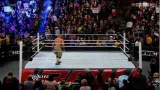 The Shield attacks John Cena, Sheamus & Ryback - Raw 28/01/2013