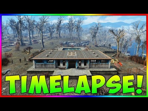"""Fallout 4 - """"The Slog"""" Base Building Timelapse! (With Mods)"""