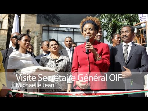 Visite Michaëlle Jean, SG Organisation Internationale de la Francophonie