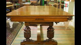 Riley 7ft Oak Refectory Style Snooker Dining Table.c 1920′s