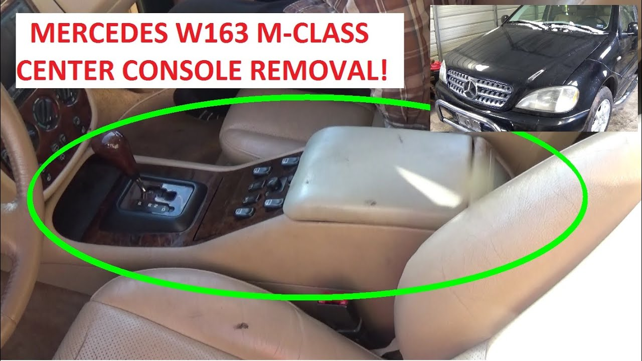 Center Console Arm Rest Removal And Replacement Mercedes W163 Ml230 1999 E320 Fuse Box Ml320 Ml350 Ml430 Ml500 Ml400