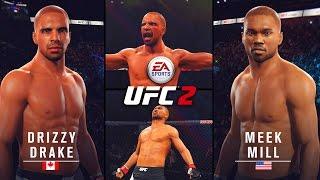 Drake vs. Meek Mill! The Showdown! EA Sports UFC 2 Gameplay