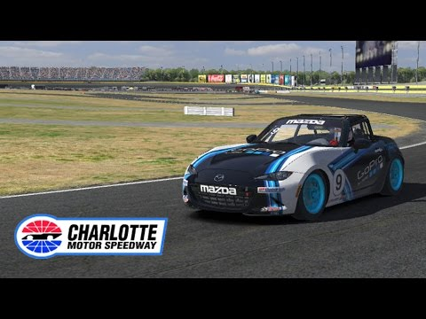 iRacing - Global Mazda MX-5 Cup @Charlotte Motor Speedway - Road Course | Hotlap 1:22.218