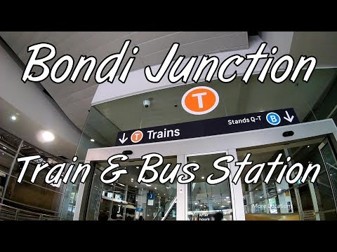 Bondi Junction Train Station & Bus Interchange - Walking Tour - Sydney Australia