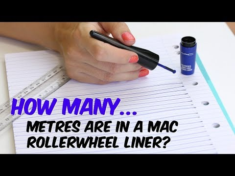 How many metres will the Mac Roller Wheel Liner go? | THE MAKEUP BREAKUP