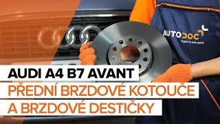 Výměna Brzdové Destičky AUDI A4: dílenská příručka
