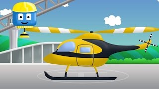 Helicopter  - Tom & Matt the Construction Trucks | Construction Cartoons in 3D for kids