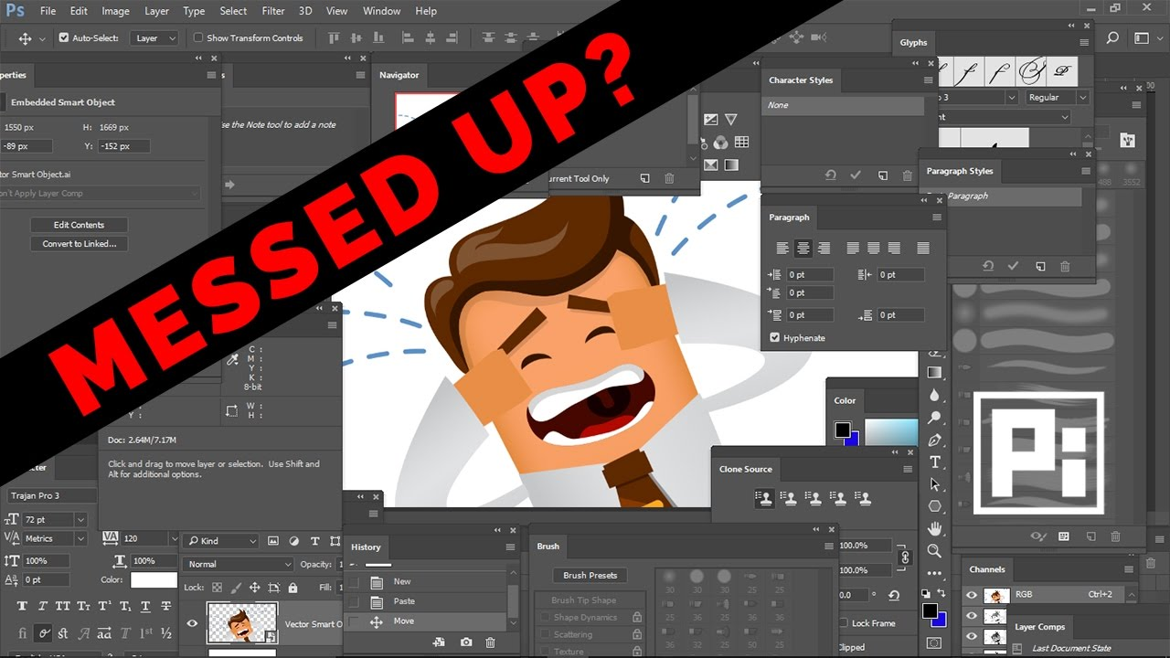 Photoshop Toolbar Missing | How to Reset Tools and Workspace in Photoshop