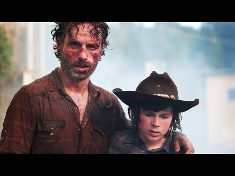 The Walking Dead  Andrew Lincoln, Chandler Riggs, David Alpert Season 5   Comic Con 2014